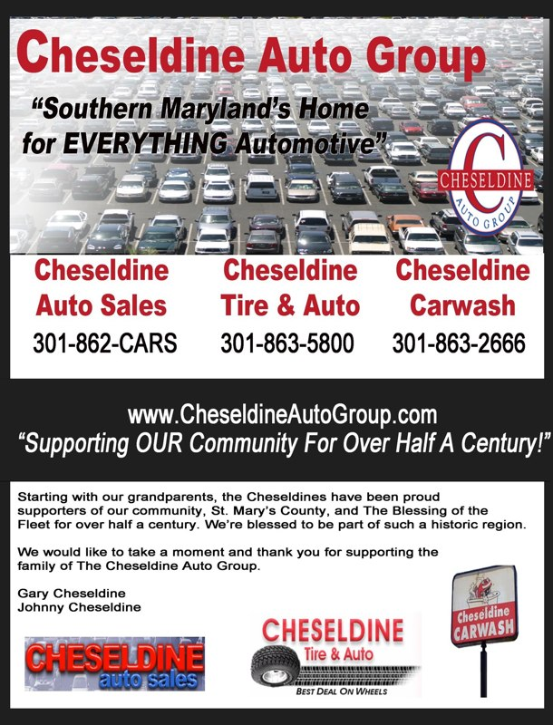 cheseldine auto group supports the blessing of the fleet community advertising